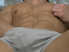 Jayce Williams touch his cock and bubble butt, Added: 2012-02-13, Duration: 4:31