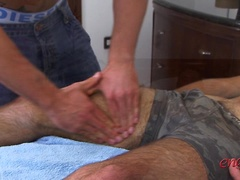 Straight Favourite Tyler Hirst sucks his First Cock - Lucky Dan gets Massaged and Blown!, Added: 2012-04-03, Duration: 1:11
