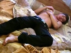 All-naked twink works his pecker and fondles booty, Added: 2012-12-14, Duration: 2:02